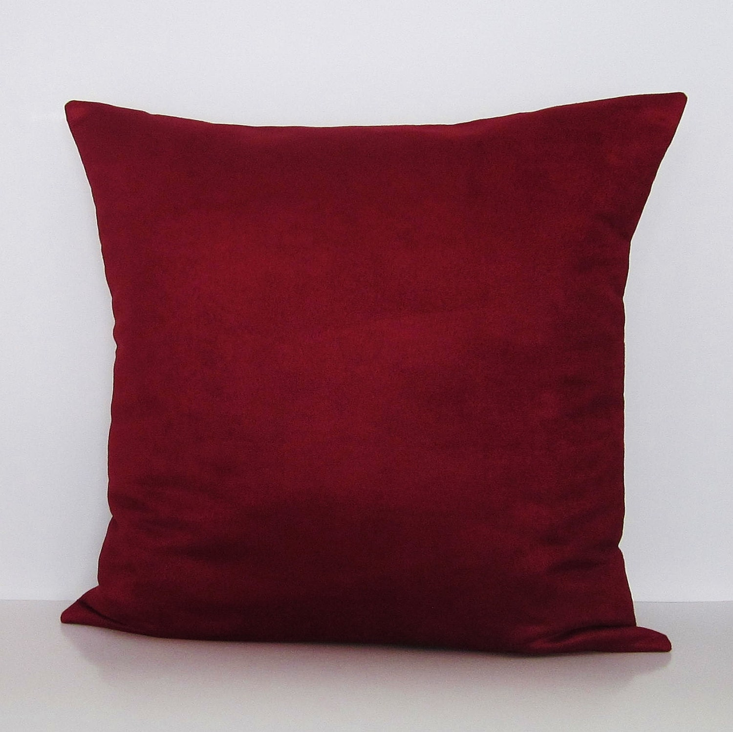 Burgundy Microfiber Throw Pillows : Burgundy Suede Pillow Cover Home Decor Decorative Accent Toss