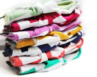 SET OF FIVE (5) chevron various color options - Scarf bib - Gender neutral - you pick colors