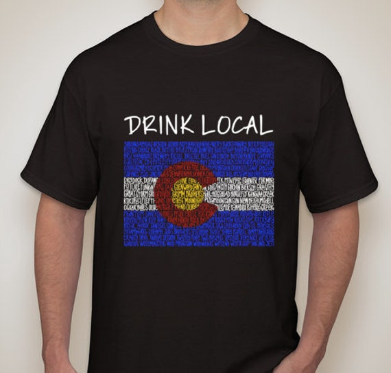 drink local colorado craft beer t shirt limited edition