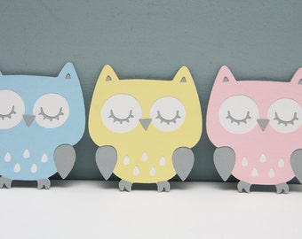 Cricut Owl Die Cut Set of 8 (Choice of color)