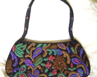 Elegant  beaded evening purse from the 1970s