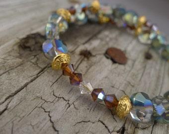Swarovski Crystal Memory Wire Bracelet