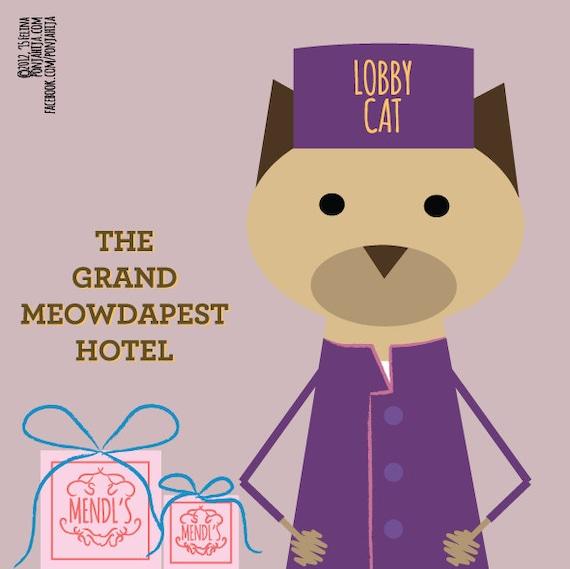 The Grand Budapest Hotel. sticker 3.9 x 3.9 in