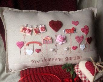 My Valentine Garden Pillow (Cottage Style)