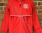 Monogram Rain Coat , Charles River Rain Jacket, Monogrammed Rain Coat, Personalized Rain Jacket
