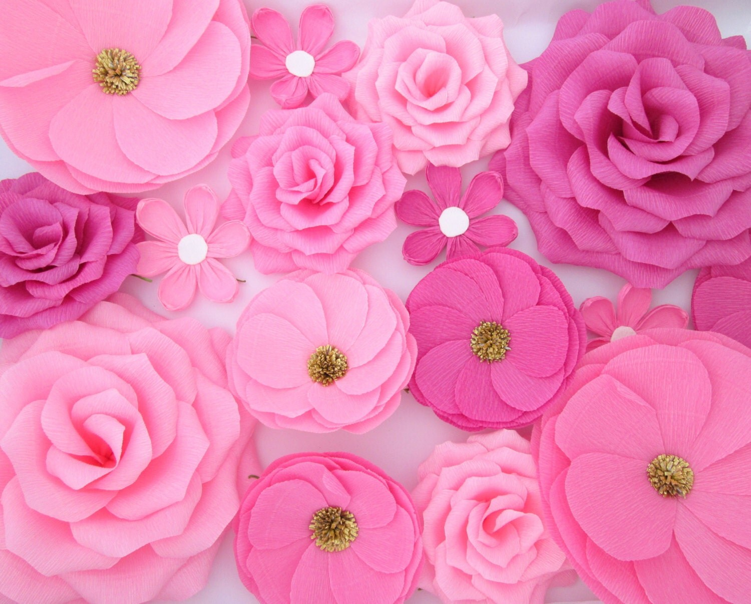 Wall Flowers Decor 16 paper flowers/ wall flowers/ arch flowers/ wedding