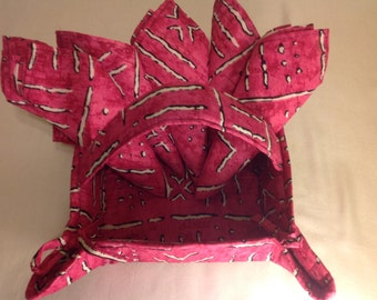 African print fabric basket