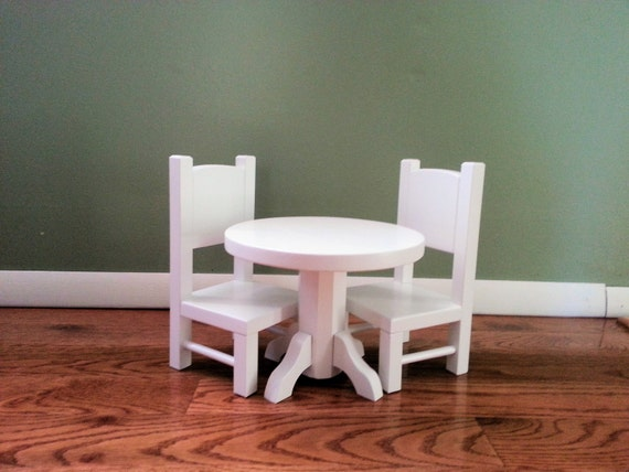 round table and chair set for american girl doll or any 18