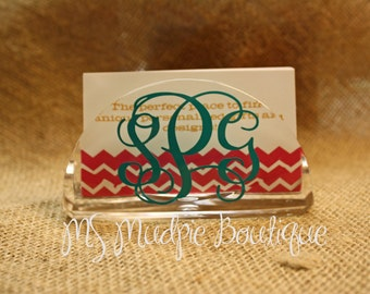 Personalized Business Card Holder, Monogrammed Business Card Holder