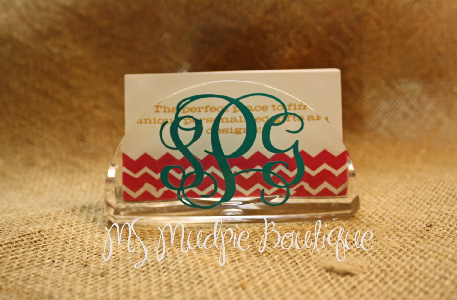 Personalized Business Card Holder Monogrammed Business Card
