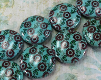 Floral Patterned Turquoise  - Item 1701