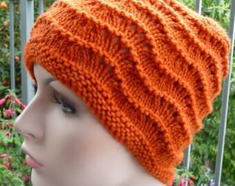 Burnt Orange Feather & Fan Hat  -  1470