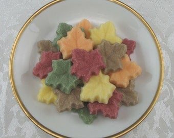 30 Maple Leaf Shaped Sugar Cubes in Autumn Mix for Fall, Thanksgiving, Tea Party, Party Favor, hostess gift