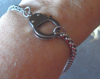 Bracelet or Anklet Stainless Steel Working Hand Cuff BDSM Kink Fetish Bondage Jewelry