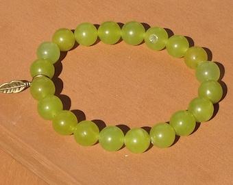 Light Green Glass Bead Bracelet