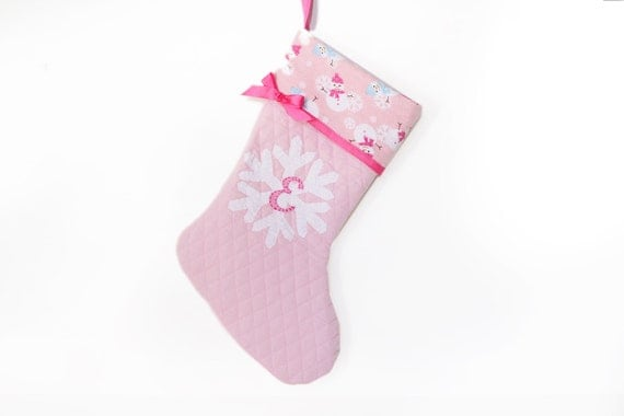 Baby Girl Stocking Baby's First Christmas Pink by ...