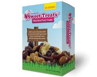 Sweet-Treats [4-pack] Premium Wild Bird Fruit Treats with Mulberries, Cherries, Juniper Berries & More