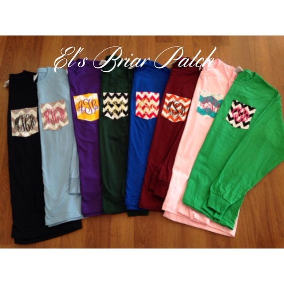 Items Similar To Long Sleeved Personalized Monogrammed