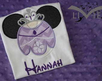 Sofia the First Mickey Mouse Ears Appliquéd Shirts or Onesies-- Family Vacation Shirts