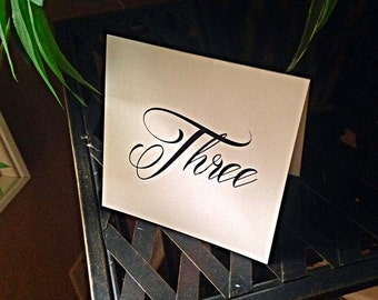 Shimmer Tented Table Numbers -  Any Occassion