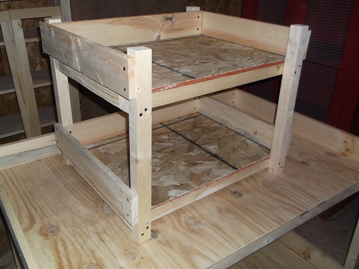 Rustic Cat Bunk Beds by SameAsNever on Etsy