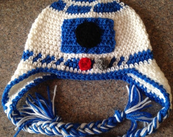 Star Wars R2D2 Crochet Hat