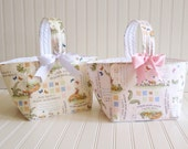 "Baby gift basket, diaper caddy, baby nursery, classical baby nursery, gender neutral- ""guess how much I love you"" collection- easter basket"