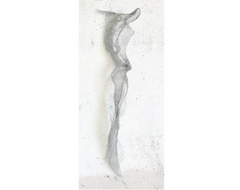 Metal art Dalila Sculpture OOAK .50 shades of gray.