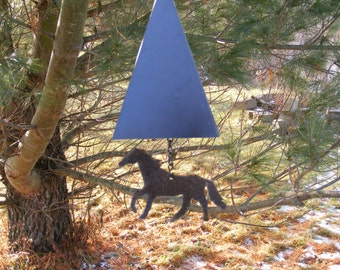Pyramid Wind Chime with Galloping Horse wind catcher