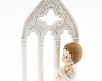 Boy Kneeling at Church