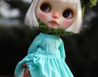 MInt candy wrinkle dress for Blythe