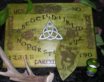 DELUXE Celtic Dragon Spirit Board with planchette~ouija