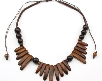 Adjustable Brown Tagua Necklaces.