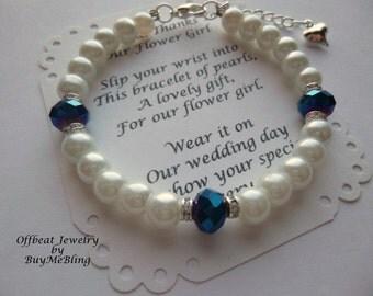 Children's Bracelet, Flower Girl Gift, Flower Girl Jewelry, Pearl Flower Girl Bracelet, Childrens Bracelet, Girls Bracelet