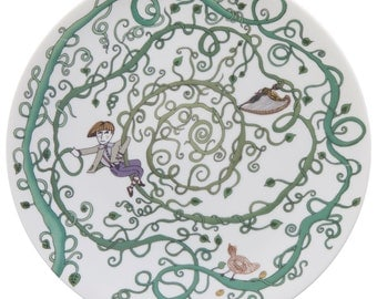 Jack and the beanstalk plate