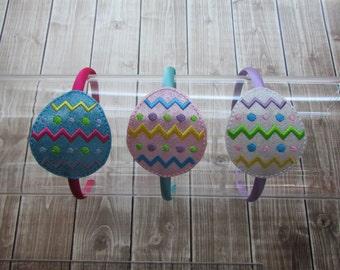 Easter Headband, Easter Egg Headband, Girls Headband