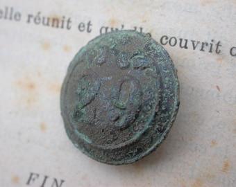 29 infantry  regiment numbered antique button Napoleon war 1812  French antique metal button military suit button army button France Paris