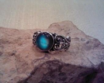 Labradorite Ring Sterling Silver Filagree