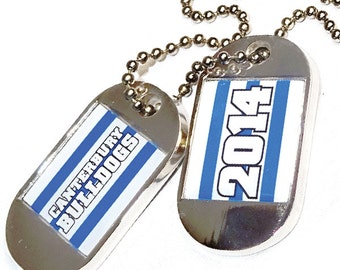 Personalised Printed Silver Dog Tags