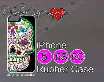 iphone 5 case - iphone 5s case - iphone 5c case -  sugar skull iphone 5 case - sugar skull iphone 5s case  - sugar skull iphone 5c case - S6