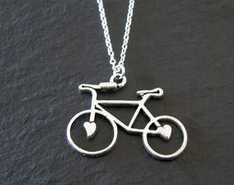 Tibetan Silver Bicycle Charm Necklace, Bicycle Necklace, Bike Necklace, Cyclist Gift,