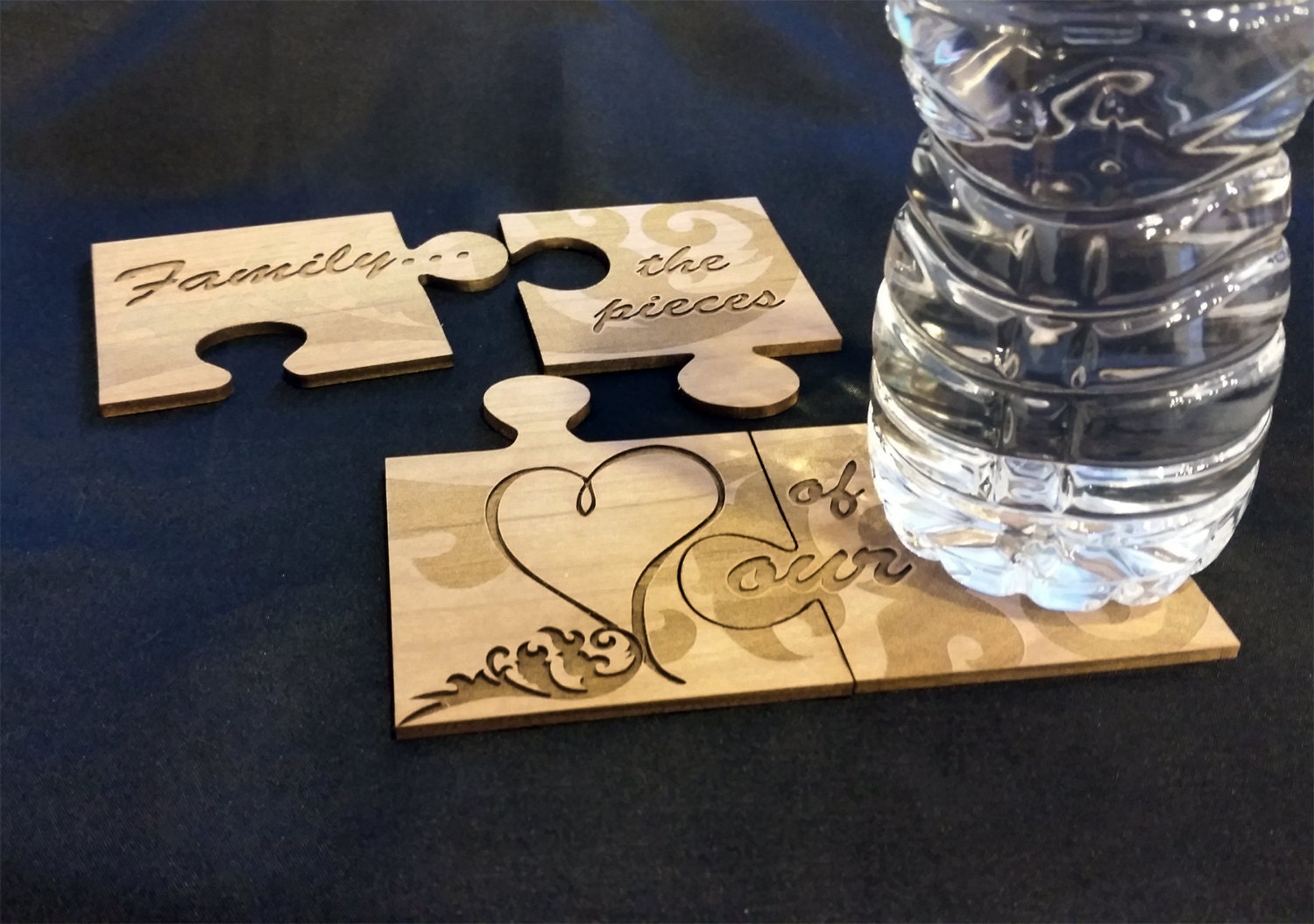 Personalized puzzle piece coaster for Custom 5000 piece puzzle