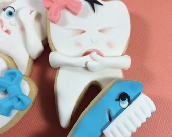 Molar and Toothbrush cookies / toothbrush cookies / dental cookies / dentist / nurse cookes / tooth cookes / tooth / tooth printable / tooth