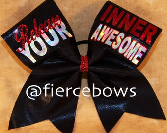 Release Your Inner Awesome Cheer Bow