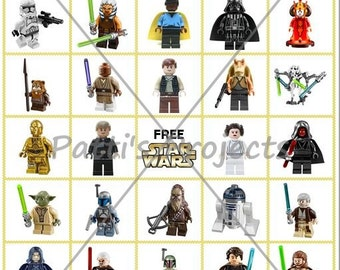 Star Wars Lego Inspired Bingo Game Digital Download - 20 Cards