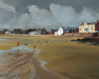 Scottish Seascape Elie Beach Fife Scotland Giclee Print
