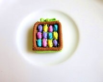 Easter Candy Basket Gift Easter Bunny Pastel Spring Miniature Food Gift Marshmallow Bunny Doll House Easter Miniature Sweet Pastel Bunny
