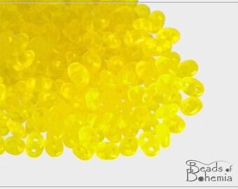 20 g Transparent Yellow Matte Czech Superduo Beads 2,5x5 mm (9180)