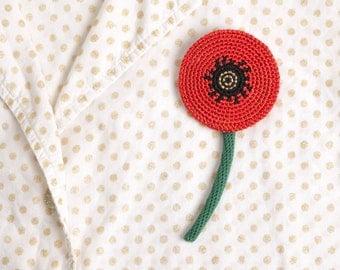 POPPY – crochet brooch