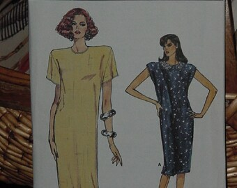 Very Easy Very Vogue Sewing Pattern 9900 Straight Dress  1980s Size 12-16 Uncut  dec 3